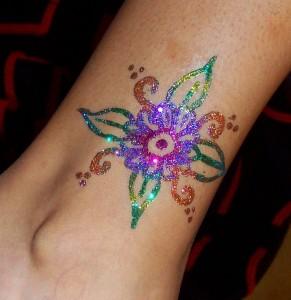 Glitter Tattoo 2